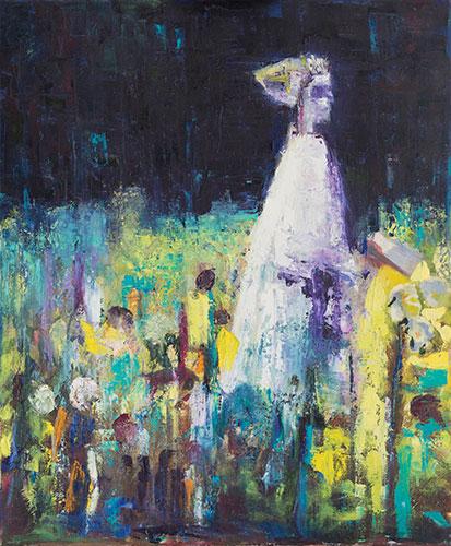 IGURES - GHOST GIRL - UNFRAMED - 60 x 50cm - oil on canvas