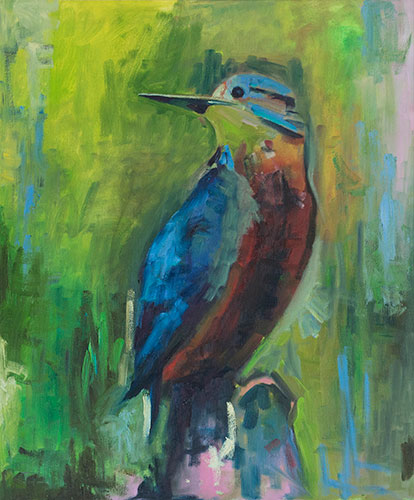 FOWL - FISHER KING - AFTER PASKE - UNFRAMED - 64 x 54cm - oil on canvas