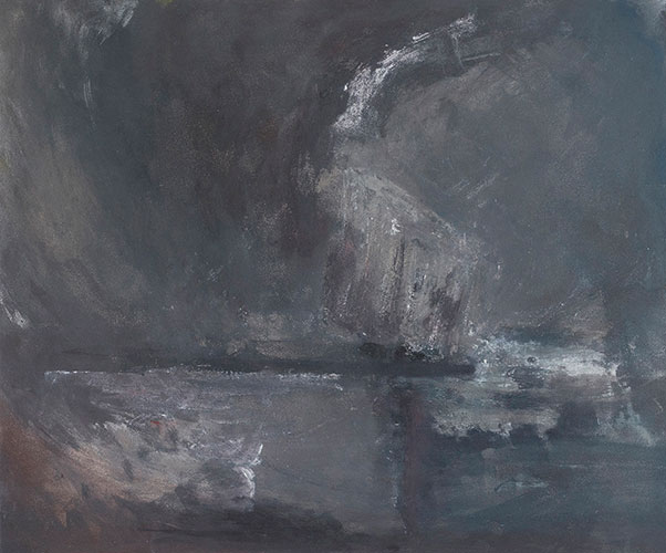 INTO THE STORM - UNFRAMED - 50 x 60cm - oil on board