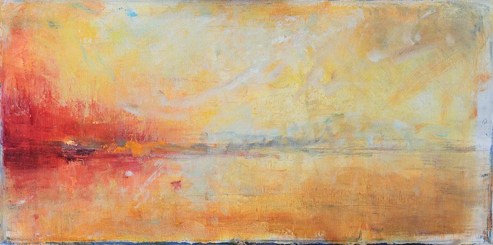 SUNRISE - UNFRAMED - 30 x 60cm - oil on canvas
