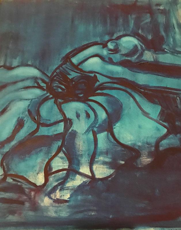 FIGURE - THE PLUMP BALLERINA SERIES - (1) - 80 x 70cm UNFRAMED - OIL ON CANVAS