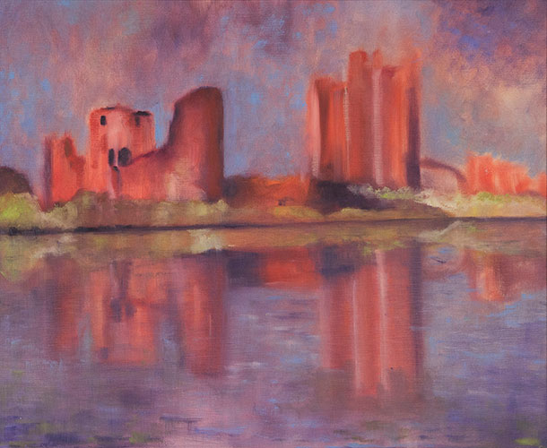 TRIM CASTLE - UNFRAMED - 50 x 60cm - oil on canvas