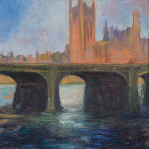 WESTMINSTER - UNFRAMED - 33 x 33cm -oil on canvas