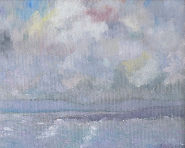 WEXFORD AT HOOK HEAD - UNFRAMED - 23 x 33cm - oil on canvas