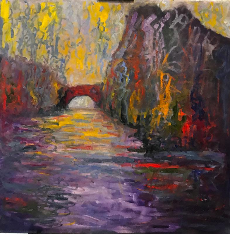 LANDSCAPE - THE RIVER BOYNE - UNFRAMED - OIL ON CANVAS