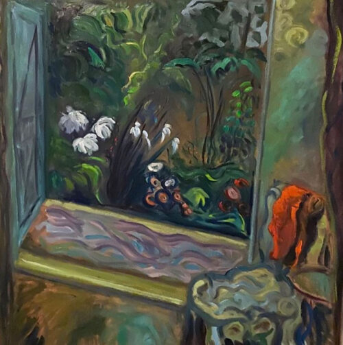 Oil painting - Floral - A rest before nature - after Grant - 100 x 86cm - oil on board