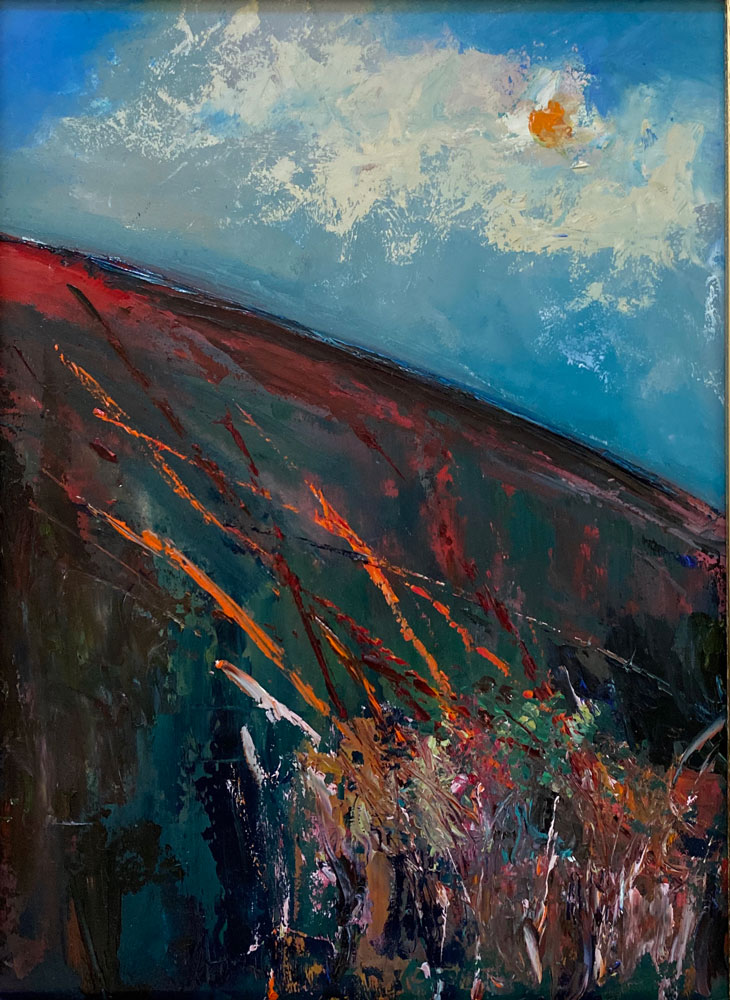 oil painting - landscape - a medley of colour - 40 x 30cm - oil on board