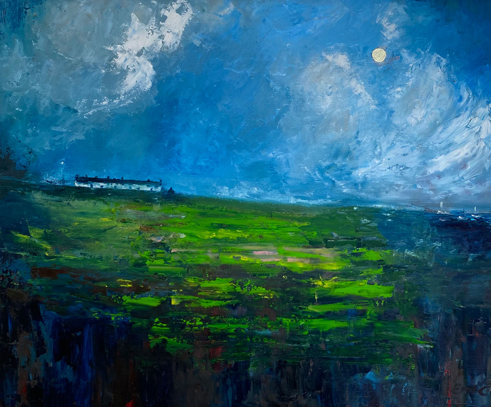 An irish abstraction - landscape oil painting by Irish artist Emily McCormack