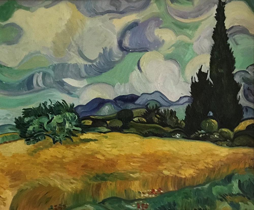 ROLLING SKYS - after Van Gogh