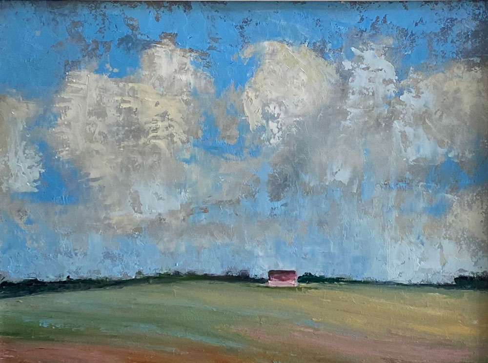 THE RED SHED BENEATH THE ROLLING CLOUDS