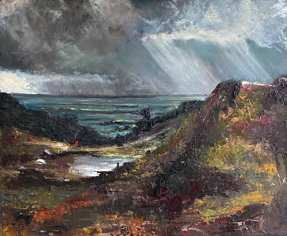 THE STORM ROLLED IN - after Constable