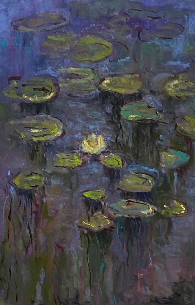 THE LILY PADS - after Monet