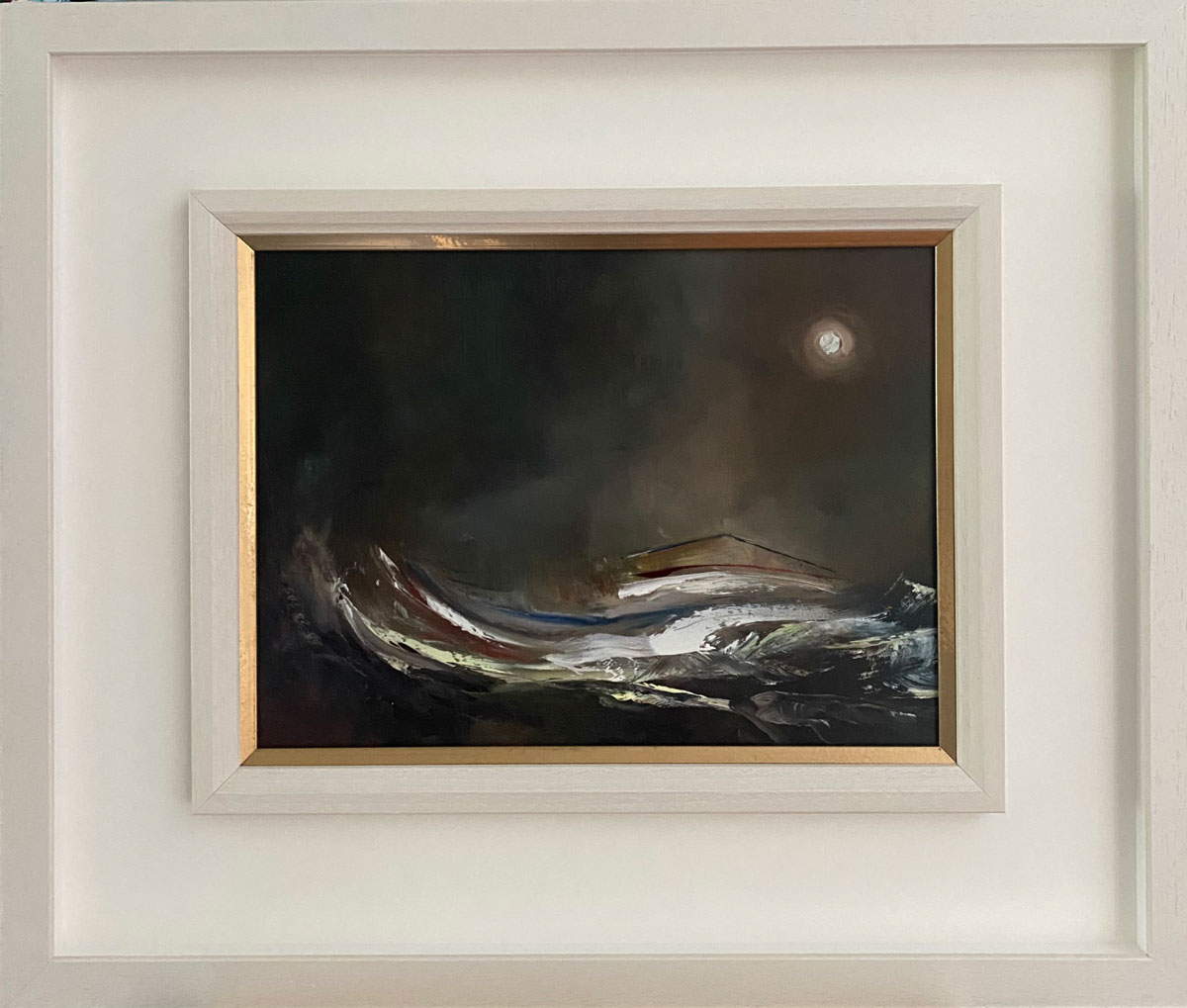 Bank Holiday Dreams - Seascape oil painting in frame
