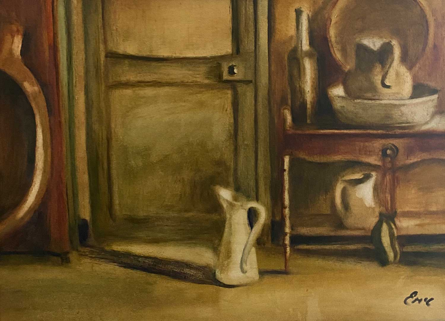 Morning Routine - after Leech - still life - oil painting
