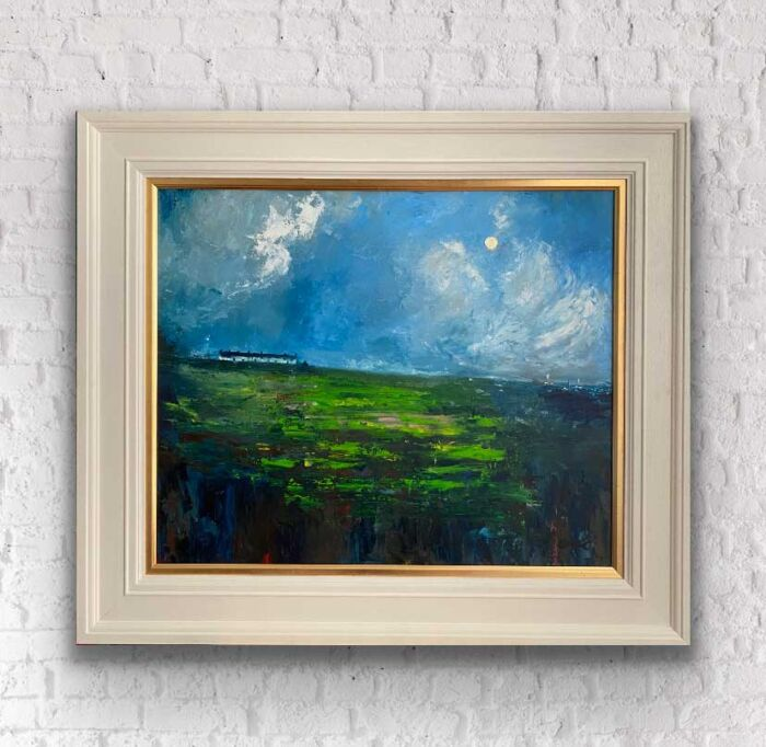 Nestled among the clouds an Irish landscape painting
