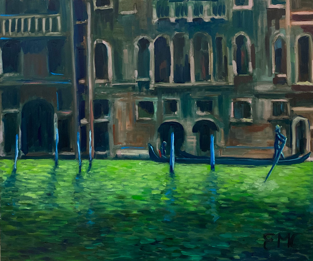 A TOURIST IN VENICE - after Monet