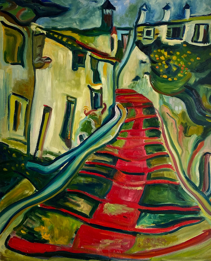 THE RED PATH - after Soutine