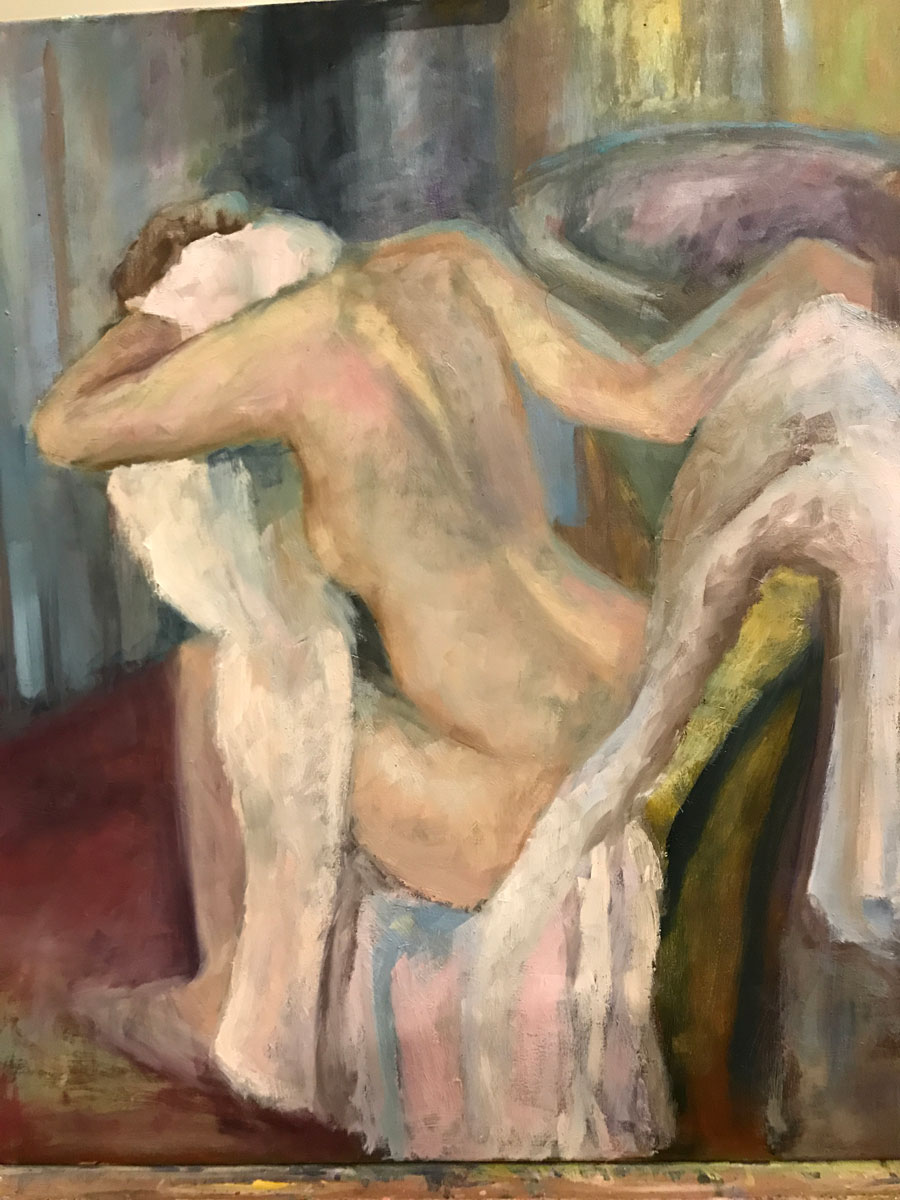 THE MORNING BATH - after Degas