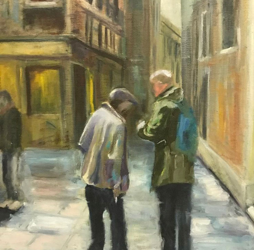 A LITTLE CHAT IN VENICE