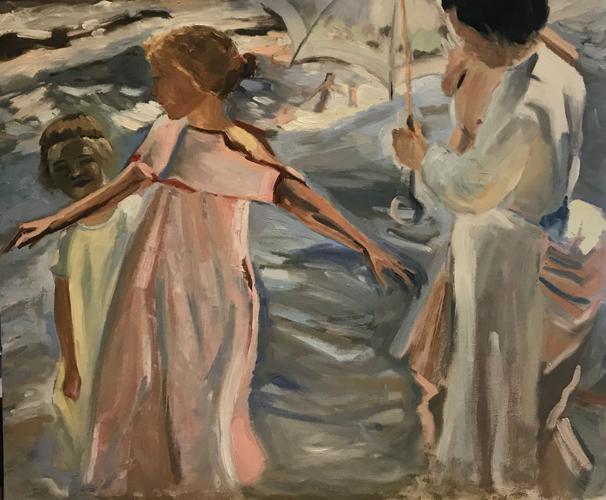 ON THE BEECH - after Sorolla