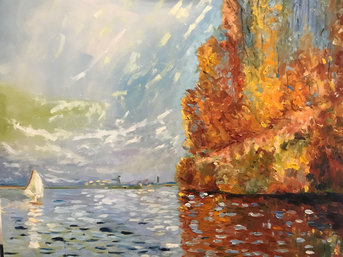 SAILING IN FRANCE - After Monet