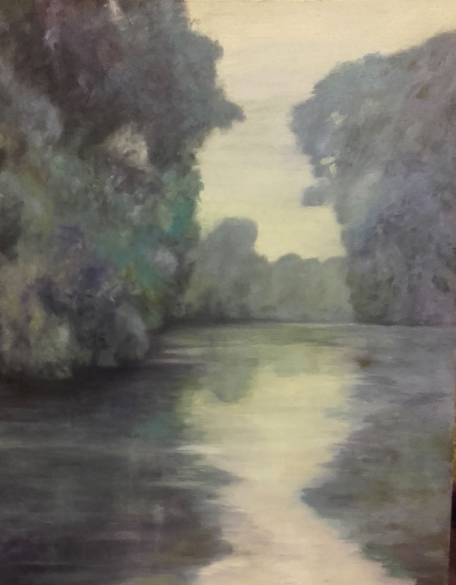 THE LAKE VIEW - After Monet