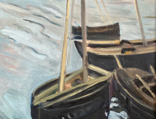 Boats Docked In Harbour – after Leech