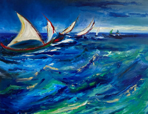 Riding The Waves – after Van Gogh