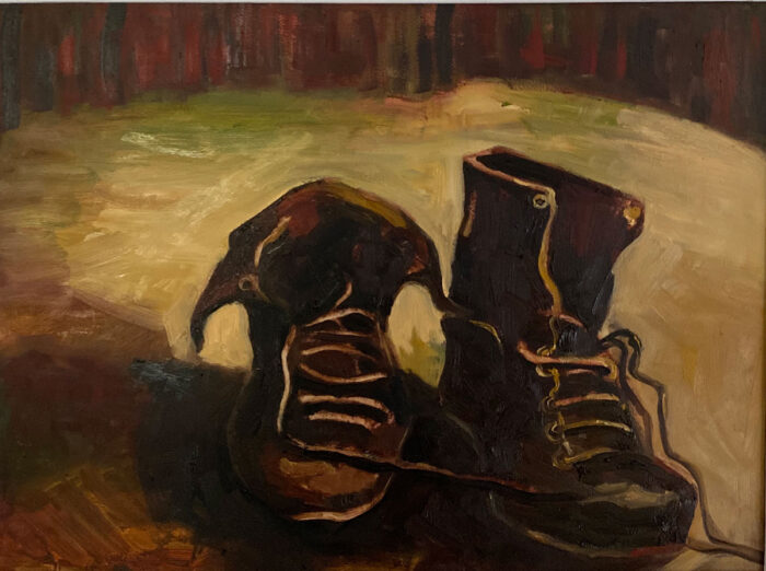 AH THE OLD BOOTS - after Van Gogh