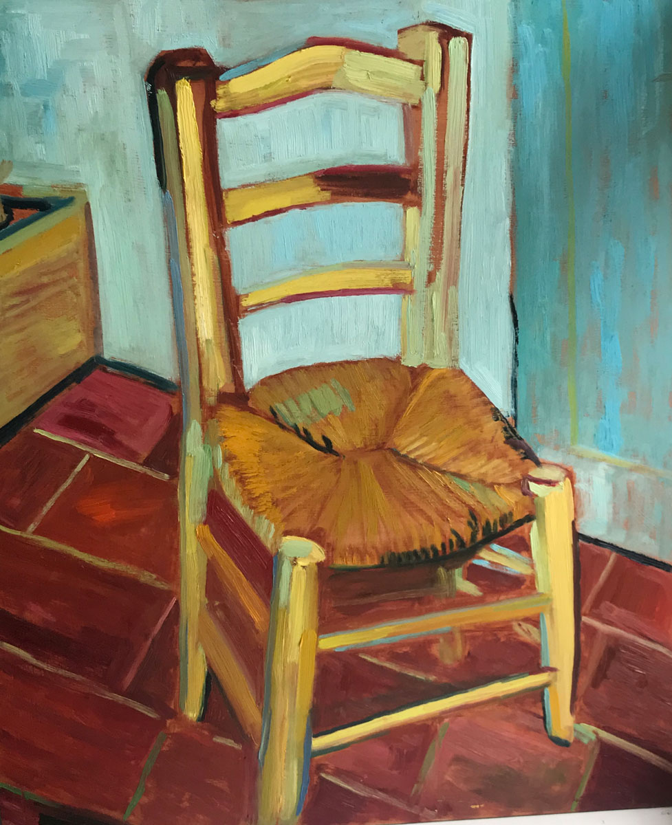 TAKE A PEW & REST - after Van Gogh