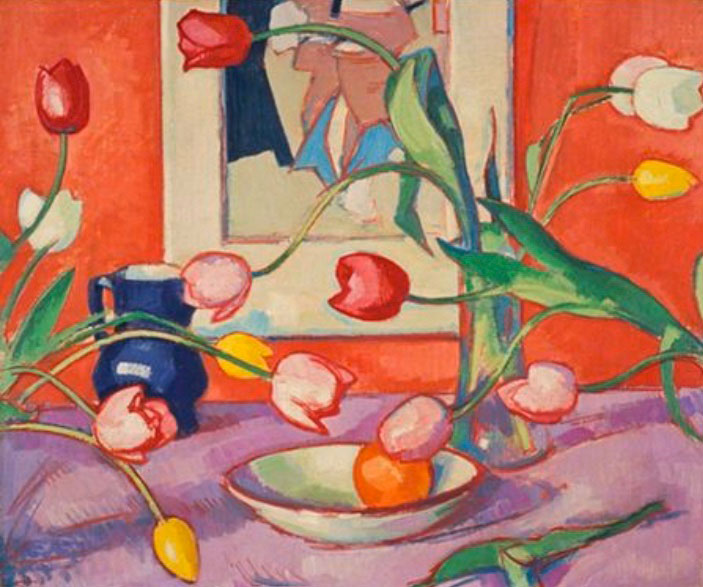TULIPS AND VERMILLION