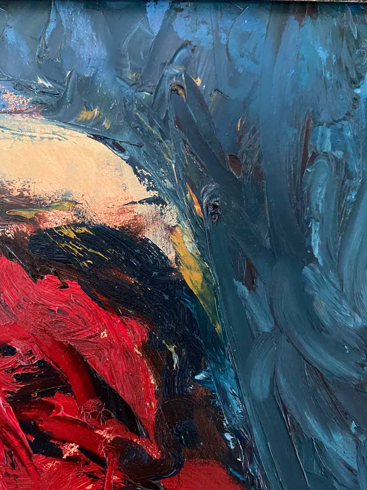 a little spanish salsa oil painting close up