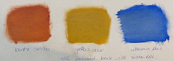 adding solvent to oil paints