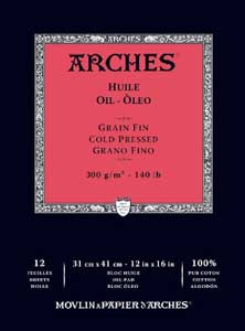 arches oil canvas pad