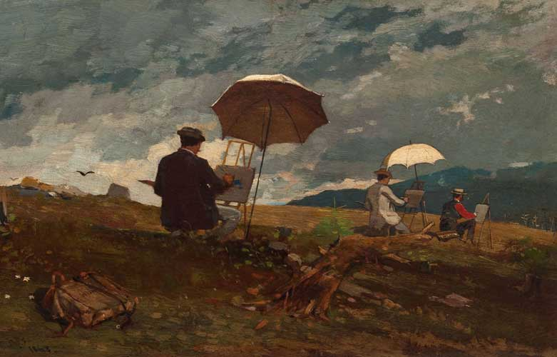artists sketching in the white mountains Winslow Homer