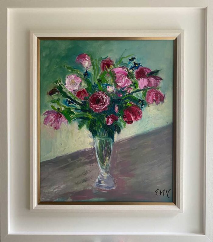 Oil painting - Floral - Just say it with roses, I love you - Framed