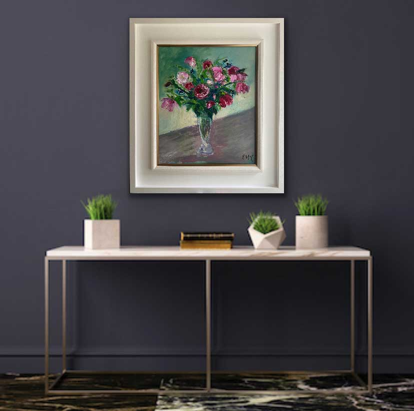 Oil painting - Floral - Just say it with roses, I love you - Room Set