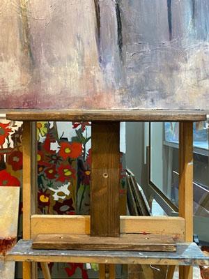 modified ledge on easel