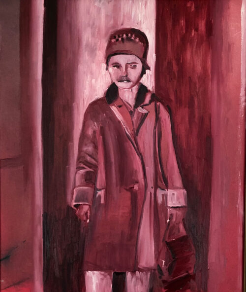 all dressed up with no where to go - an oil painting by Emily McCormack