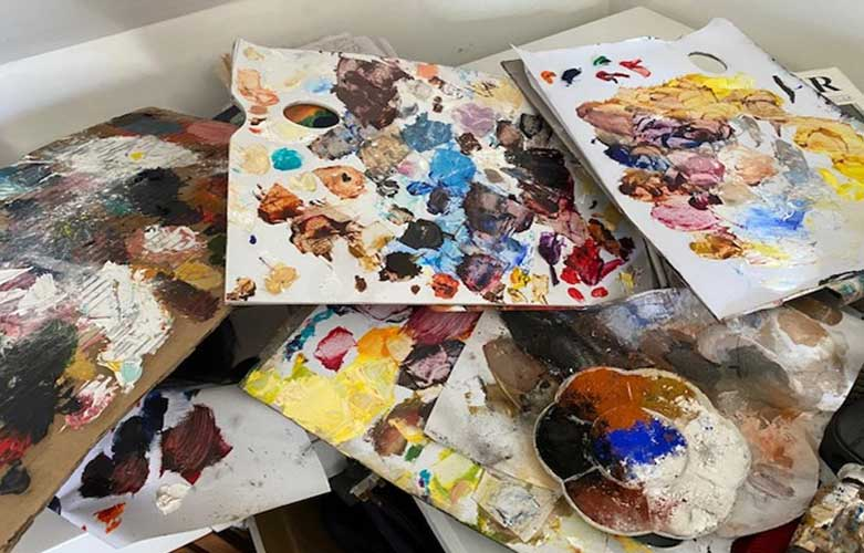 5 ways to lay out your painting palette