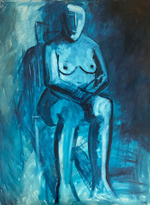 contemplation an oil painting by Emily McCormack