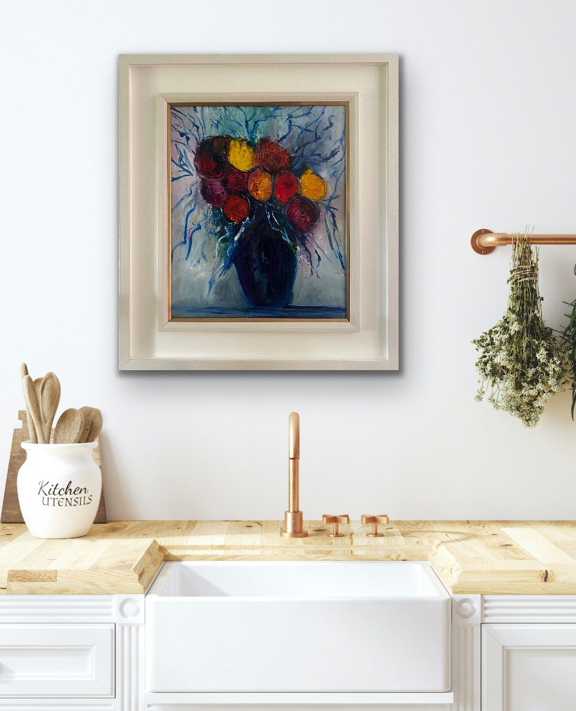 Flowers to Brighten Your Day - Original floral oil painting
