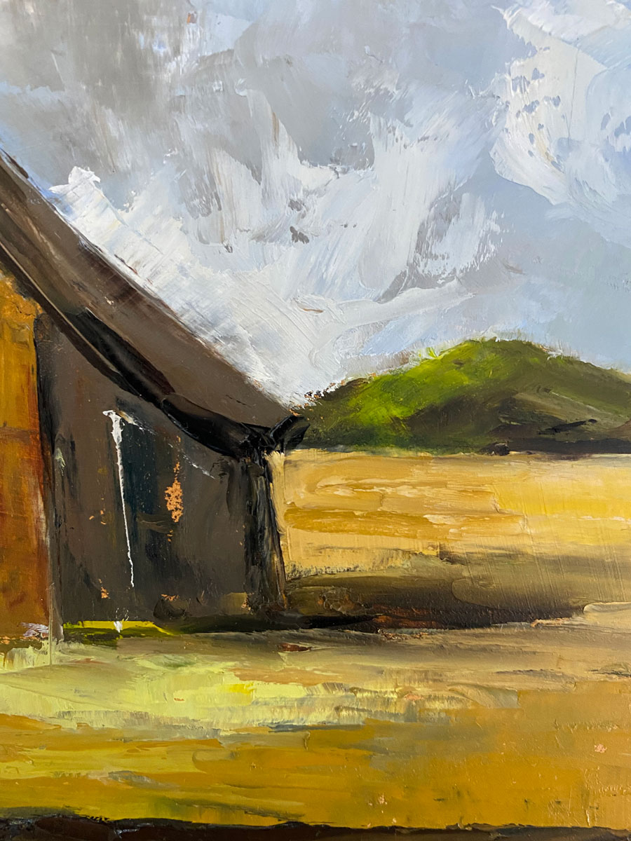 Home By The Cornfields after Constable - landscape oil painting