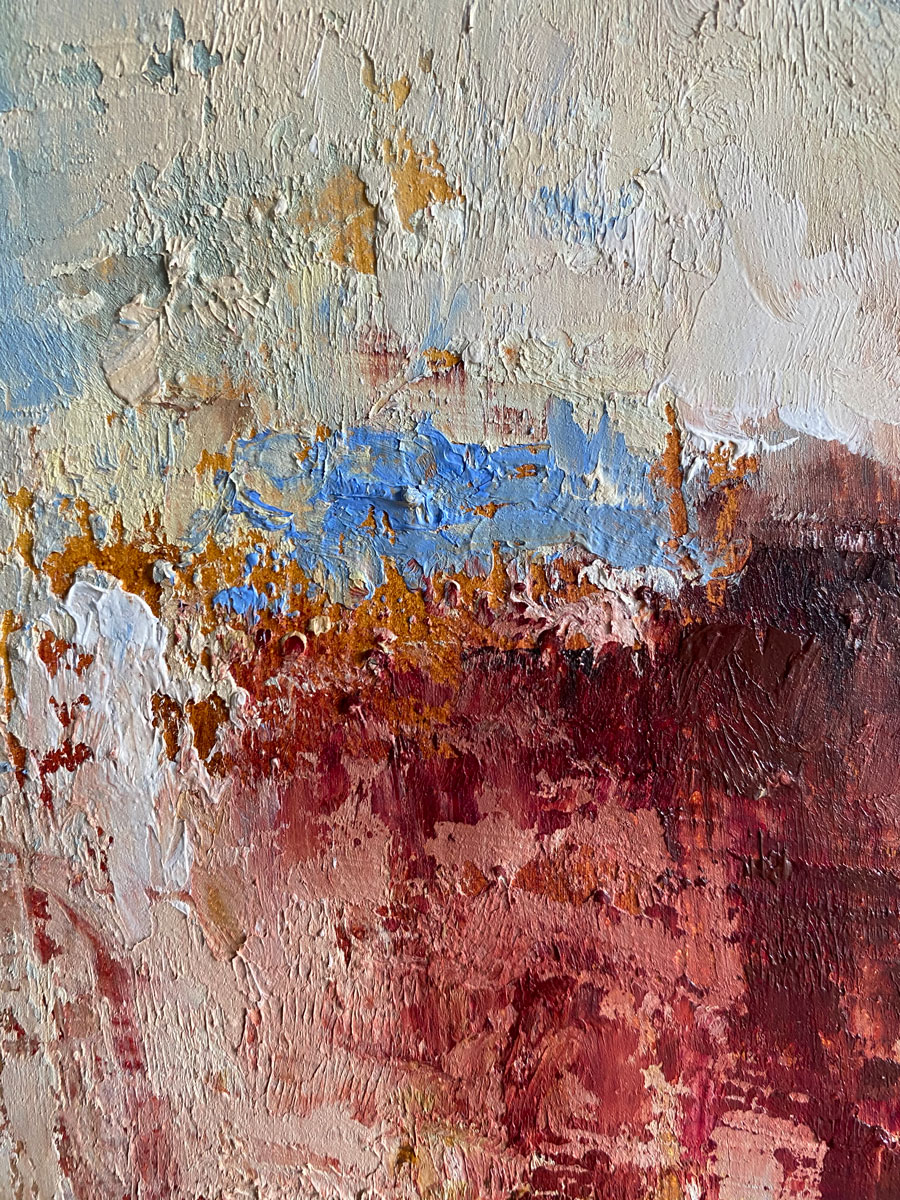 Horizon at the Worlds End - original landscape oil painting by Emily McCormack