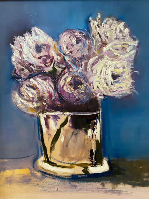 Just Flowers - after Manet - floral oil painting
