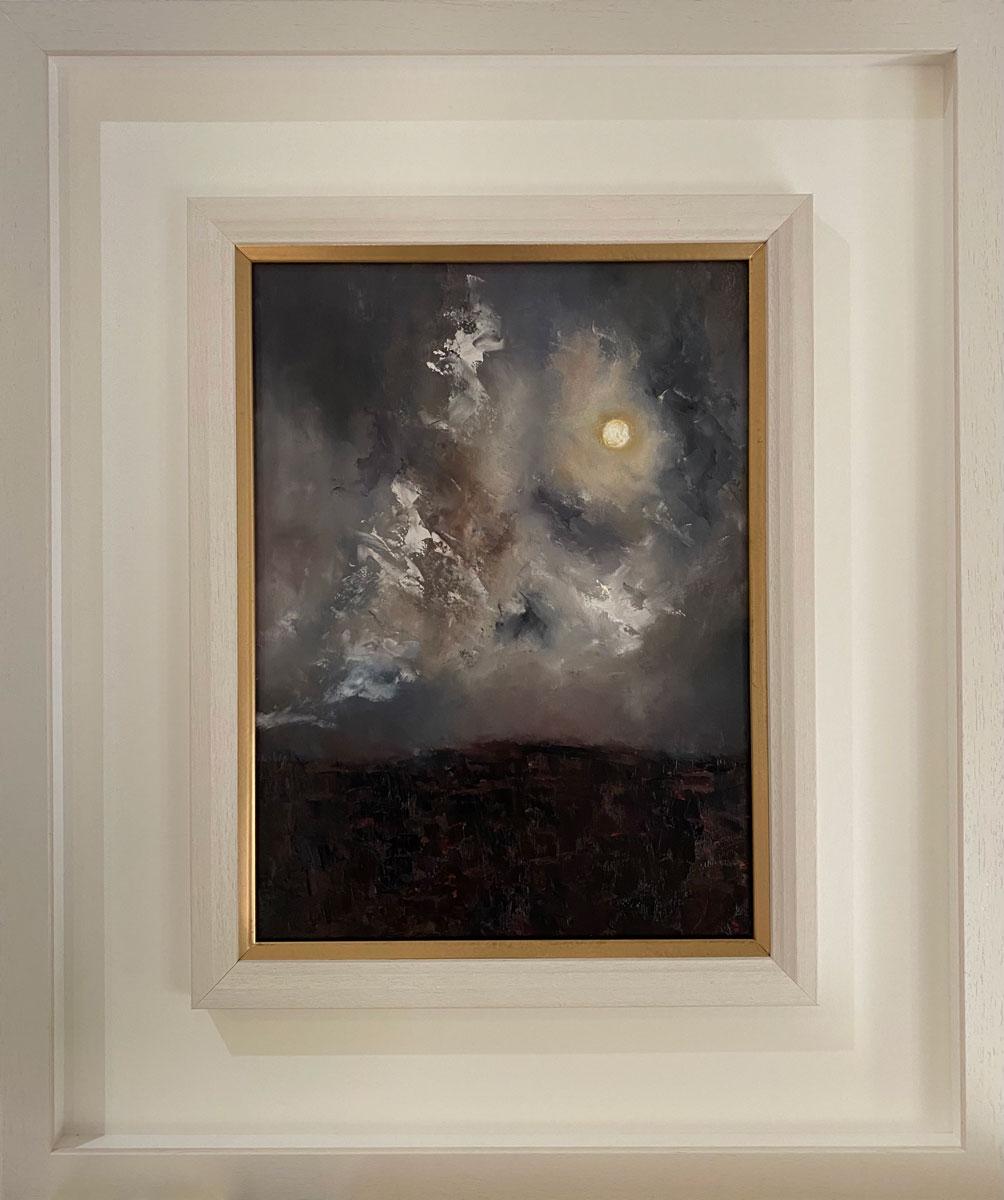 Moon Lit Night on the Bog - Original landscape oil painting Emily McCormack