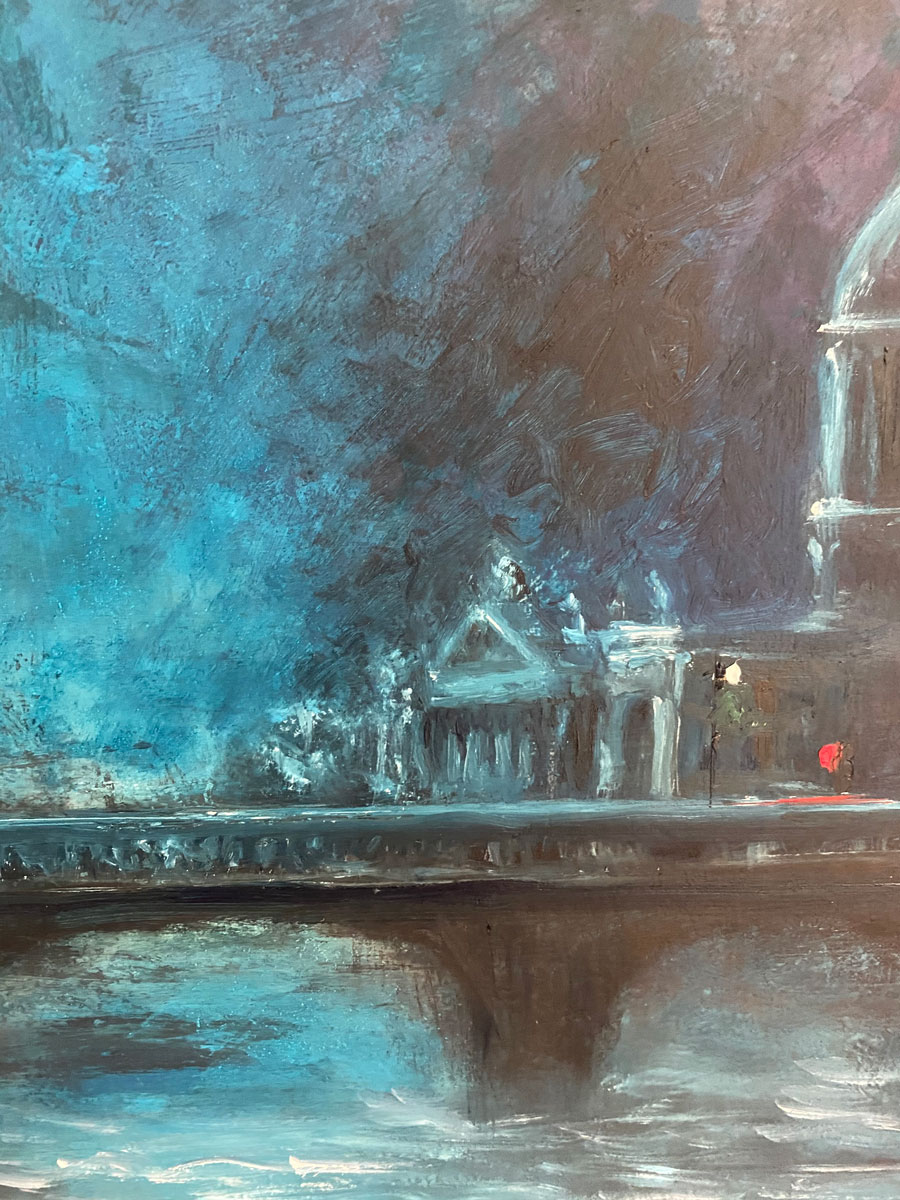 THE COURT RESTS - original cityscapre oil painting by Emily McCormack