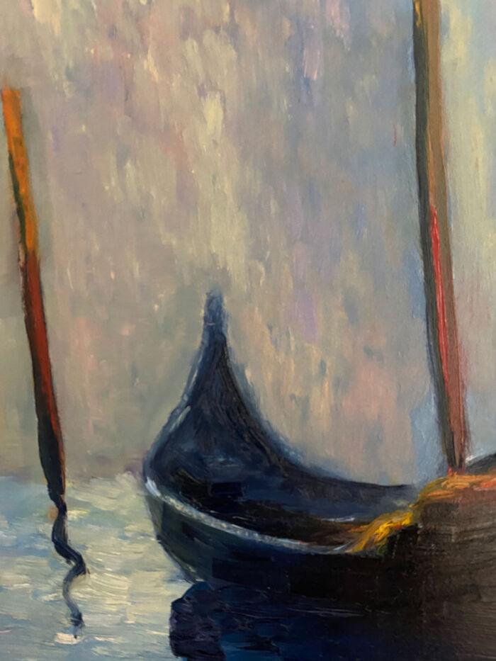 The Little Gondola - after Monet - cityscape oil painting