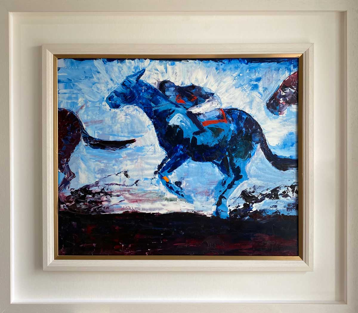 THE STAR ATTRACTION horse racing oil painting