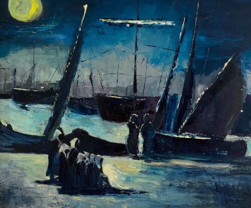 The Trade Deal - after Manet - Oil Painting